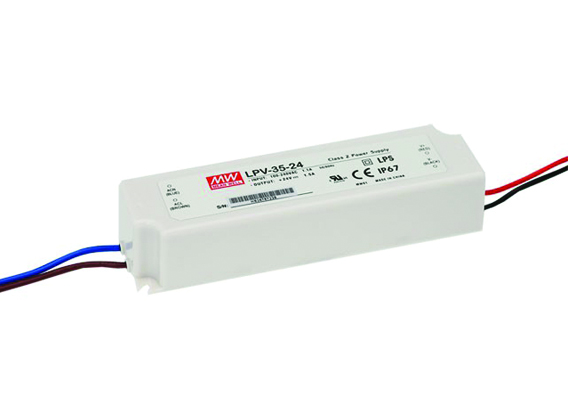 LED DRIVER 24Vdc 35W MEANWELL IP67