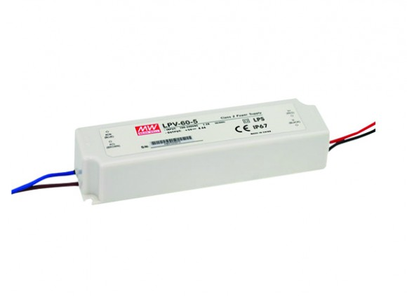 LED DRIVER 24Vdc 60W MEANWELL IP67